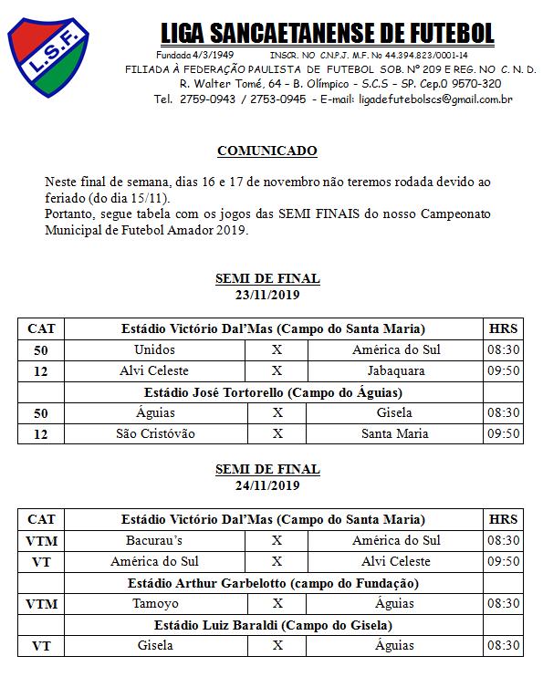 Campeonato Municipal 2019